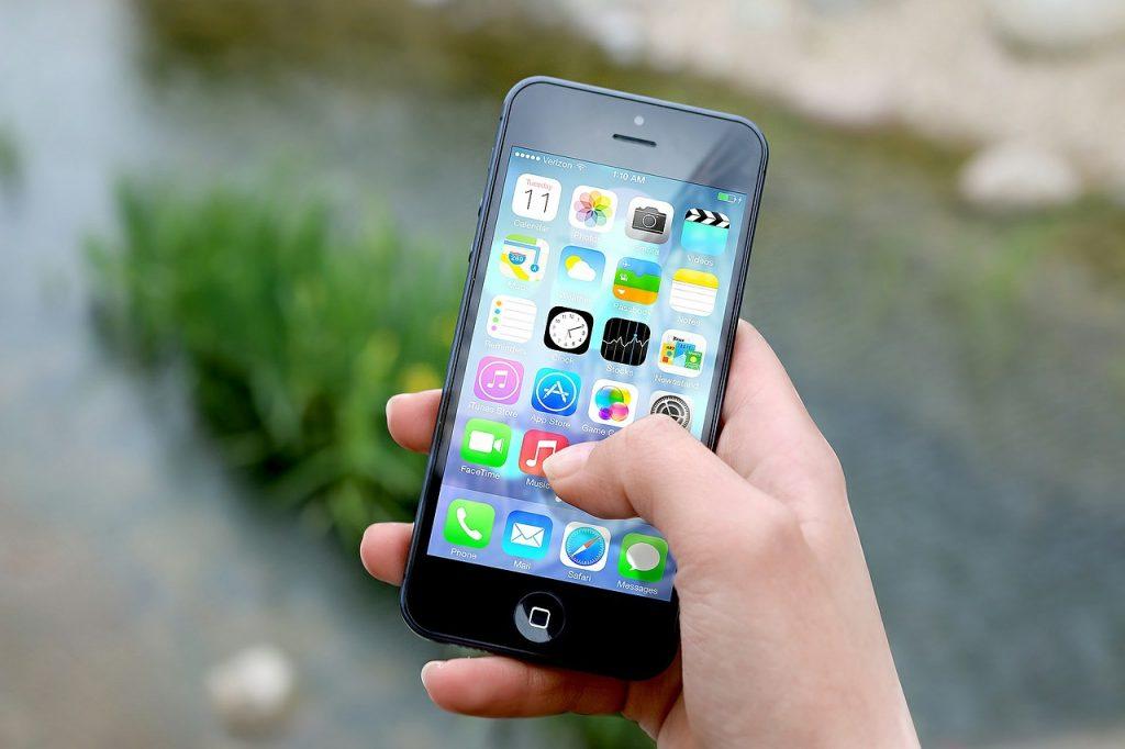 Aplicativos no celular